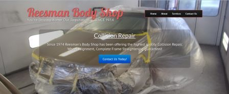 Reesman Auto Body Website