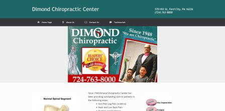 Dimond Chiropractic Center Website