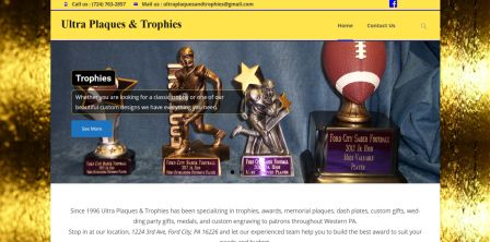 Ultra Plaques & Trophies Website