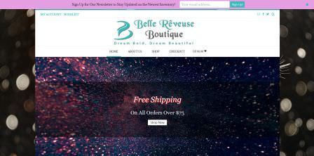 Belle Rêveuse Boutique Website