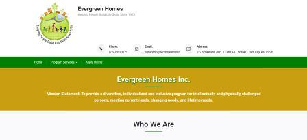 Evergreen Homes Website