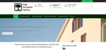 Watt Insurance Agency Website