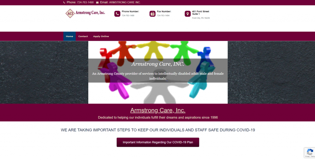 Armstrong Care Inc Website